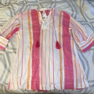 H&M pink cover up beach dress